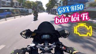 LỖI FI TRÊN GSX R150 - ĐI MUA BA LÔ MỚI | Ride Diary 77 | Vietnam motovlog