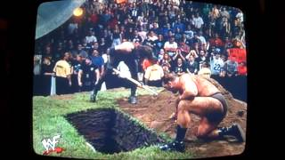 undertaker and big show vs the rock n sock connection in tag team buried alive match