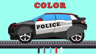 Kids TV Channel | Learn Colors with Police Utility | Coloring Videos | Colors Song