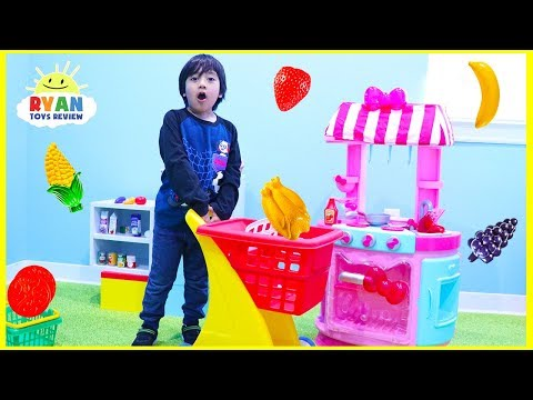 Xxx Mp4 Ryan Pretend Play Cooking And Grocery Shopping With Hello Kitty Kitchen Playset 3gp Sex