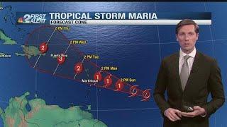 Tropical Storm Maria: 5 p.m. Saturday update