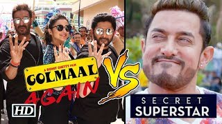 Is Aamir NERVOUS - 'Secret Superstar' CLASHES with  'Golmaal Again'
