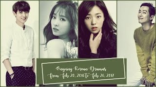 Ongoing Korean Dramas From Feb 20, 2016 to Feb 26, 2017