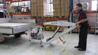MAKINEX® Powered Hand Truck with Hook loading ute