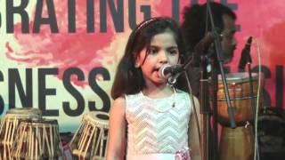 Dhanvi Sony performing at Ajivasan Fest, 2015