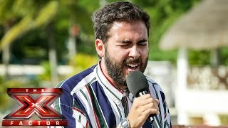 Andrea Faustini sings Jennifer Hudson's And I Am Telling You | Judges' Houses | The X Factor UK 2014