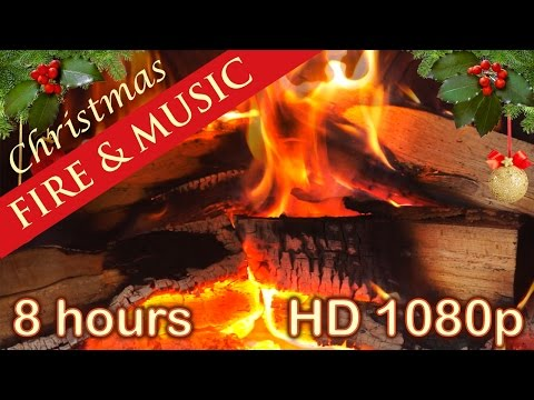 ✰ 8 HOURS ✰ CHRISTMAS MUSIC with FIREPLACE ✰ Christmas Music Instrumental ✰ LONG playlist