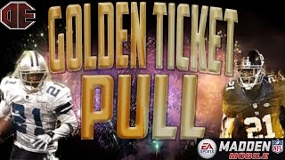 FIRST GOLDEN TICKET PLAYER PULL!!! Madden 16 Mobile Version Best Pro Pack Ever! 6 million coin pull!