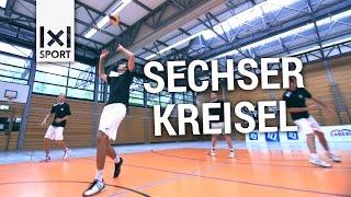 Volleyball Training Übung: Taktiktraining und gleichzeitig einspielen
