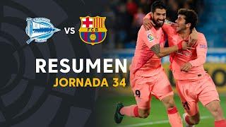 Resumen de Deportivo Alavés vs FC Barcelona (0-2)