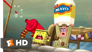 The SpongeBob Movie: Sponge Out of Water (2015) - Food Fight Scene (1/10) | Movieclips