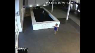 CHILD FALLS INTO THE WATER TANK (CC TV CAMERA)