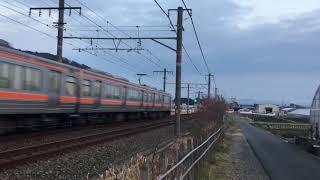 JR313系Y113編成 新快速豊橋2344F三河大塚駅〜愛知御津駅