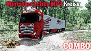 ETS2 1.33 COMBO Mercedes Actros MP4 Kreiss Euro Truck Simulator 2