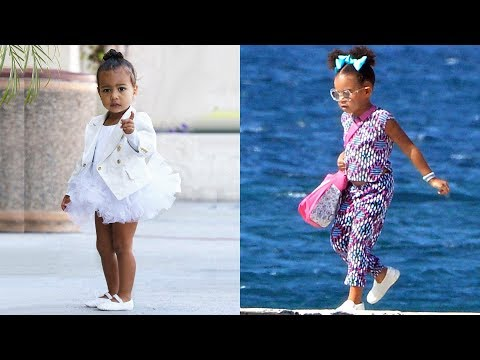 Kim Kardashian's Daughter vs Beyonce's Daughter - Who Is The Most Fashionable.?  ★ 2018