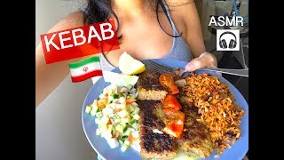 Persian Kebab with Salad Shirazi over Buttered Bread (ASMR COOKING SOUNDS) : Cooking with Sonya