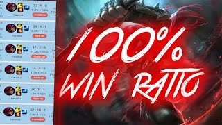 100% Win Rate KOREAN KATARINA SMURFING in NA with 200 PING