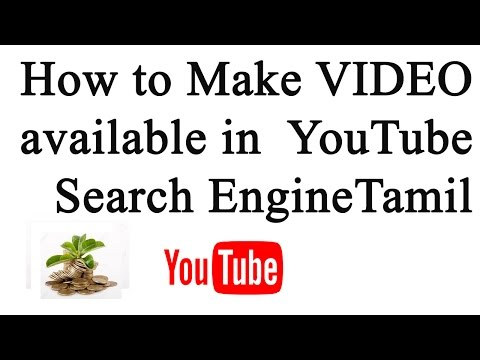 How to make a video available in YouTube search |Tamil Video|