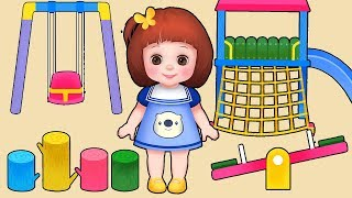 Baby Doli play ground ride and baby doll toys play