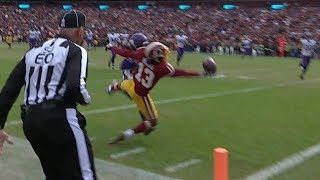 Maurice Harris INSANE One-Handed Touchdown Catch!   Vikings vs. Redskins   NFL