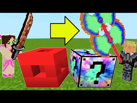 Minecraft ROBLOX VS MIXED LUCKY BLOCK CHALLENGE Modded Mini Game