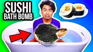 DIY Giant Bath Bomb Made Out Of SUSHI!