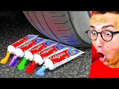 Destroying Every Day Objects WITH A CAR Experiments