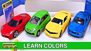 Best Kids Learning Colors Cars Trucks for Toddlers #1 Fun Hot Wheels Tomica Cars Parking Garage