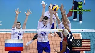 ALL BREAKS REMOVED - USA v Russia - FIVB World League 2017 Pool Play