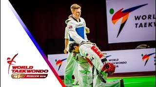 Moscow 2018 World Taekwondo GP -Final [male –68kg] SINDEN, BRADLY(GBR) vs DENISENKO, ALEXEY(RUS)