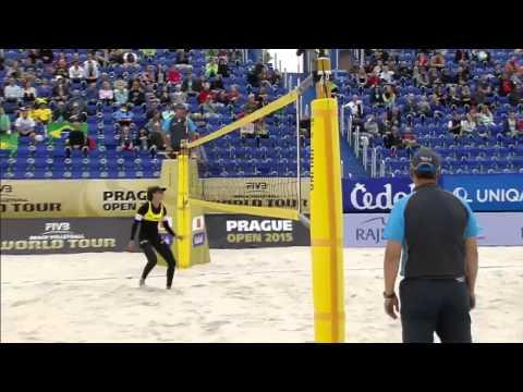 Agatha/Seixas (BRA) vs. Maria Clara/Carol (BRA) - Semi Final - Women World Tour Prag 24.05.2015