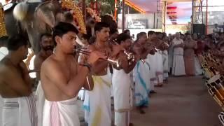 Chengamanad Mahadeva Temple Ernakulam District .Chanda Malam  -Seven Elephant together- 2013 Dec 18