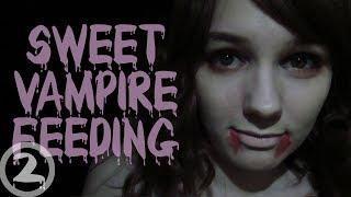 [BINAURAL ASMR] Sweet Vampire Feeding Roleplay (slurping, whispering, soft speaking)