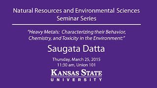 Heavy Metals in the Environment - NRES Seminar Series
