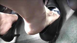Pedal Pumping and Revving Gas with High HEELS in Honda Civic Si