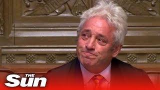Tearful John Bercow announces his resignation as Speaker