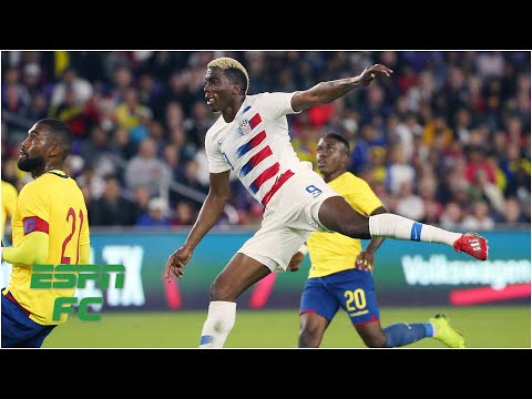 Weird Gyasi Zardes goal gives U.S. a 1 0 win USMNT vs. Ecuador International Friendly