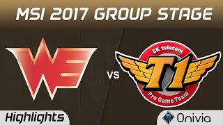 WE vs SKT Highlights MSI 2017 Group Stage Team WE vs SK Telecom T1 by Onivia