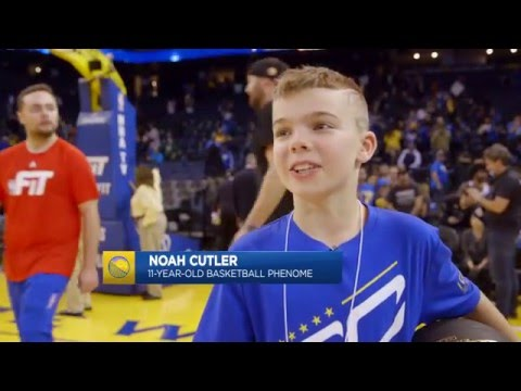 11 Year Old Kid Shows Off His Handles on Warriors Ground