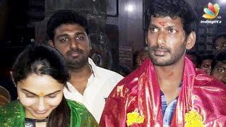 Vishal and Andrea in Chidambaram temple | Hot Tamil Cinema News