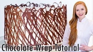 Chocolate Cake Wrap - Cake Decorating Tutorial