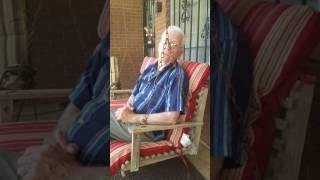 Pop heard Nan open the door to come outside! Ha