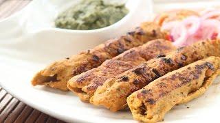 Chicken Seekh Kebab without Oven   Easy Quick Reshami Chicken Kabab recipe   Super soft moist kebabs