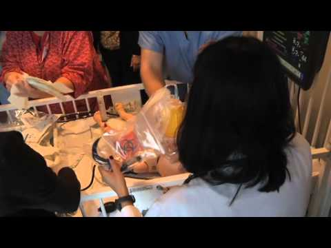 SimBaby allows PICU residents, nurses, and technicians to train for crises