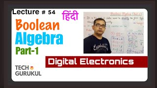 Boolean Algebra (Part-1) In Hindi/Digital Electronics   TECH GURUKUL  By Dinesh Arya