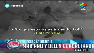 Mariano y Belén finalmente concretaron, Gran Hermano 2015