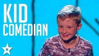 SAVAGE KID COMEDIAN Picks On The Britain's Got Talent Judges!! Got Talent Global