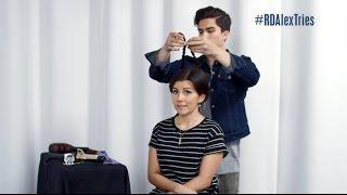 Alex Aiono Tries Styling Hair with Candice   Radio Disney
