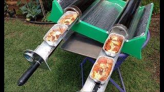 DIY homemade solar oven pepperoni pizza