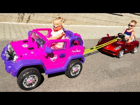 Xxx Mp4 Little Girl Elis Help Thomas With Broken Power Wheel Electric Car Ride On Toys With Baby Doll 3gp Sex